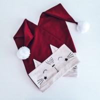 Božična kapa - muca