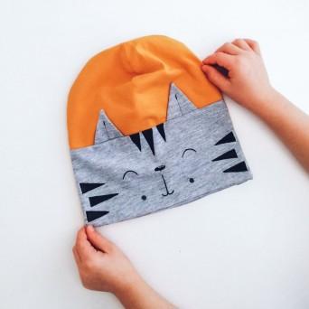 Otroška kapa z ušeski - tiger (različne barve)
