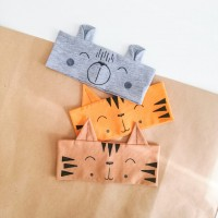 Otroški trakec z ušeski - tiger (različne barve)
