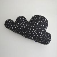 Dekorativna blazina - oblaček (črn)