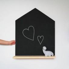 Tabla s poličko - hiška